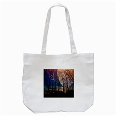 Full Moon Forest Night Darkness Tote Bag (white) by Nexatart