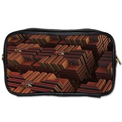 Fractal 3d Render Futuristic Toiletries Bags 2-Side by Nexatart