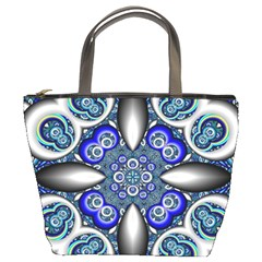 Fractal Cathedral Pattern Mosaic Bucket Bags by Nexatart