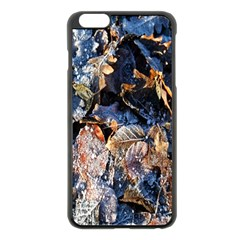 Frost Leaves Winter Park Morning Apple Iphone 6 Plus/6s Plus Black Enamel Case by Nexatart