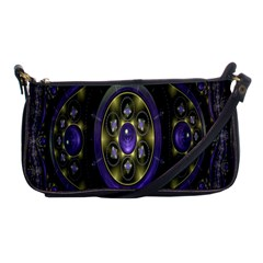 Fractal Sparkling Purple Abstract Shoulder Clutch Bags by Nexatart