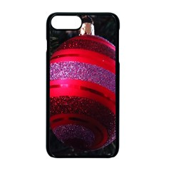 Glass Ball Decorated Beautiful Red Apple iPhone 7 Plus Seamless Case (Black) by Nexatart