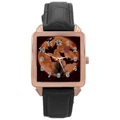 Halloween Card Scrapbook Page Rose Gold Leather Watch