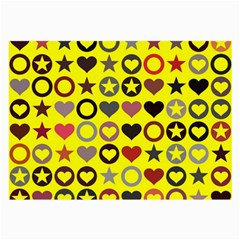 Heart Circle Star Large Glasses Cloth (2 Side) by Nexatart