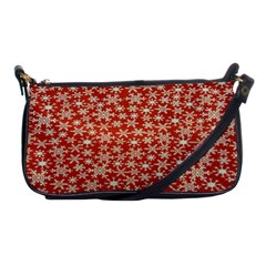 Holiday Snow Snowflakes Red Shoulder Clutch Bags by Nexatart