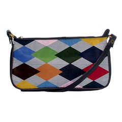 Leather Colorful Diamond Design Shoulder Clutch Bags by Nexatart