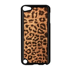 Leopard Print Animal Print Backdrop Apple Ipod Touch 5 Case (black) by Nexatart