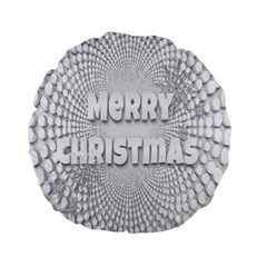 Oints Circle Christmas Merry Standard 15  Premium Round Cushions by Nexatart