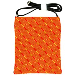 Orange Pattern Background Shoulder Sling Bags by Nexatart