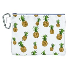 Pineapples Pattern Canvas Cosmetic Bag (xxl) by Valentinaart