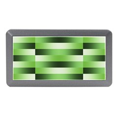 Pinstripes Green Shapes Shades Memory Card Reader (mini) by Nexatart