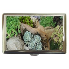Plant Succulent Plants Flower Wood Cigarette Money Cases by Nexatart