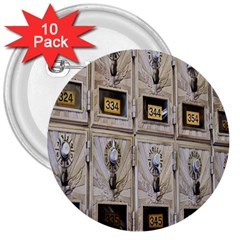 Post Office Old Vintage Building 3  Buttons (10 Pack)  by Nexatart