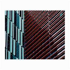Red And Black High Rise Building Small Glasses Cloth (2 Side) by Nexatart