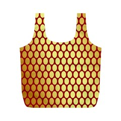 Red And Gold Effect Backing Paper Full Print Recycle Bags (m)  by Nexatart