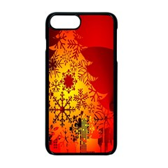 Red Silhouette Star Apple iPhone 7 Plus Seamless Case (Black) by Nexatart