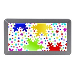 Seamless Snowflake Pattern Memory Card Reader (mini) by Nexatart