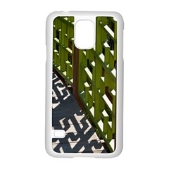 Shadow Reflections Casting From Japanese Garden Fence Samsung Galaxy S5 Case (white) by Nexatart