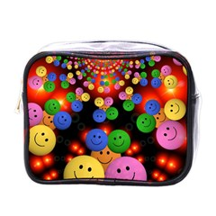 Smiley Laugh Funny Cheerful Mini Toiletries Bags by Nexatart
