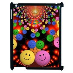 Smiley Laugh Funny Cheerful Apple iPad 2 Case (Black) by Nexatart