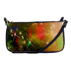 Star Christmas Background Image Red Shoulder Clutch Bags by Nexatart