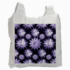 Stars Patterns Christmas Background Seamless Recycle Bag (two Side)  by Nexatart