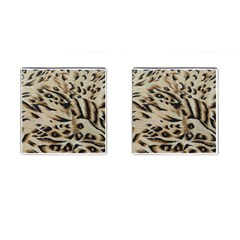 Tiger Animal Fabric Patterns Cufflinks (Square) by Nexatart