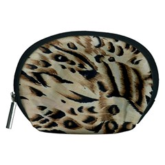 Tiger Animal Fabric Patterns Accessory Pouches (medium)  by Nexatart