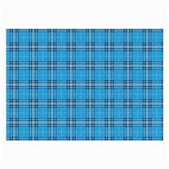 The Checkered Tablecloth Large Glasses Cloth by Nexatart