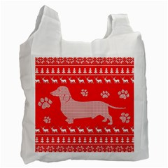 Ugly X Mas Design Recycle Bag (two Side)  by Nexatart