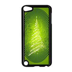 Vector Chirstmas Tree Design Apple Ipod Touch 5 Case (black) by Nexatart
