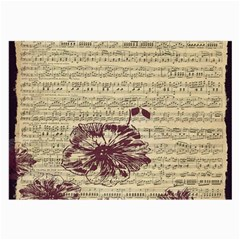 Vintage Music Sheet Song Musical Large Glasses Cloth (2 Side) by Nexatart
