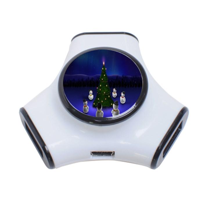 Waiting For The Xmas Christmas 3-Port USB Hub