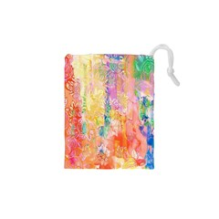 Watercolour Watercolor Paint Ink Drawstring Pouches (xs)  by Nexatart