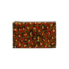 Stylized Background For Scrapbooking Or Other Cosmetic Bag (Small)  by Nexatart
