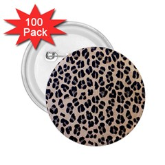 Background Pattern Leopard 2 25  Buttons (100 Pack)  by Amaryn4rt