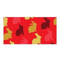 Hare Easter Pattern Animals Satin Wrap by Amaryn4rt