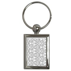 Pattern Silly Coloring Page Cool Key Chains (rectangle)  by Amaryn4rt