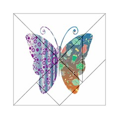 Vintage Style Floral Butterfly Acrylic Tangram Puzzle (6  X 6 ) by Amaryn4rt
