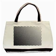 Background Wallpaper Texture Lines Dot Dots Black White Basic Tote Bag
