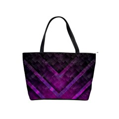 Purple Background Wallpaper Motif Design Shoulder Handbags by Amaryn4rt