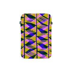 Crazy Zig Zags Blue Yellow Apple Ipad Mini Protective Soft Cases