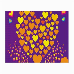 Heart Love Valentine Purple Orange Yellow Star Small Glasses Cloth (2 Side) by Alisyart