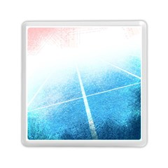 Court Sport Blue Red White Memory Card Reader (square)  by Amaryn4rt