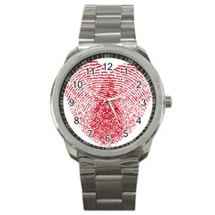 Heart Love Valentine Red Sport Metal Watch