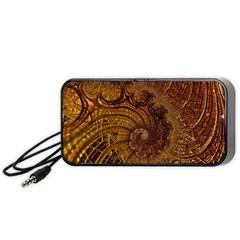 Copper Caramel Swirls Abstract Art Portable Speaker (black)