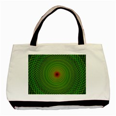 Green Fractal Simple Wire String Basic Tote Bag