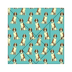 Dog Animal Pattern Acrylic Tangram Puzzle (6  X 6 ) by Amaryn4rt