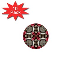 Flowers Fabric 1  Mini Buttons (10 Pack)  by Amaryn4rt
