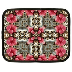 Flowers Fabric Netbook Case (large) by Amaryn4rt